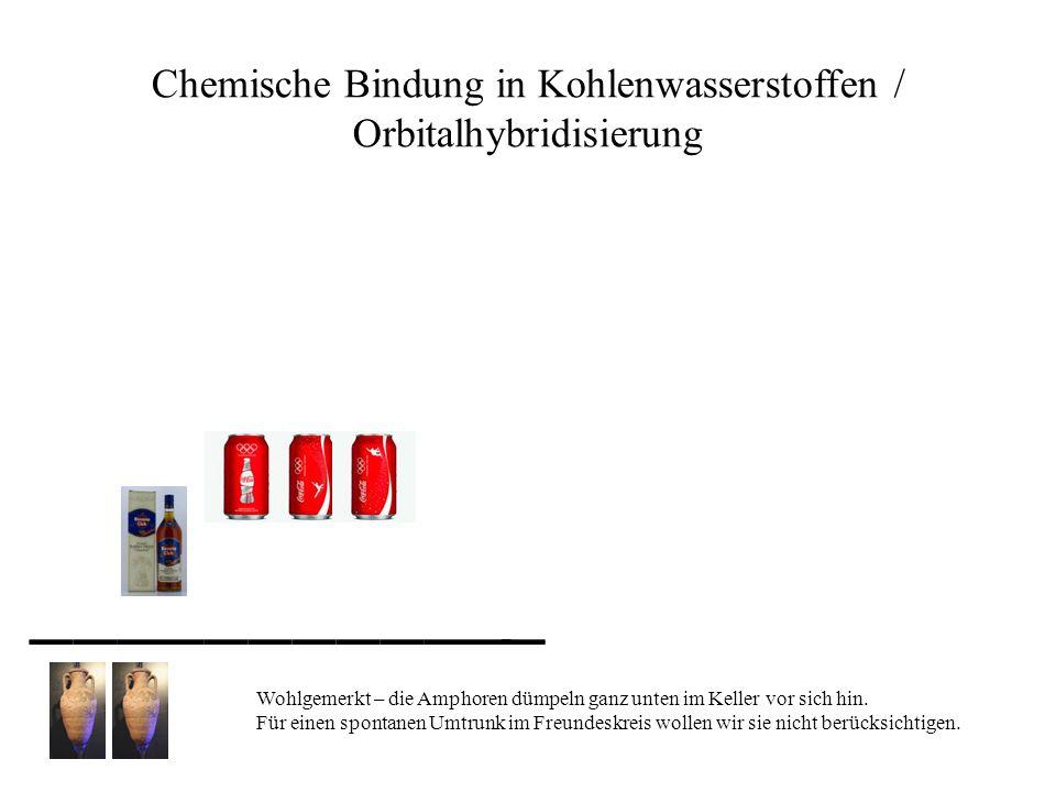 Chemische Bindung in Kohlenwasserstoffen / Orbitalhybridisierung Wohlgemerkt – die Amphoren dümpeln ganz unten im Keller vor sich hin. Für einen spont