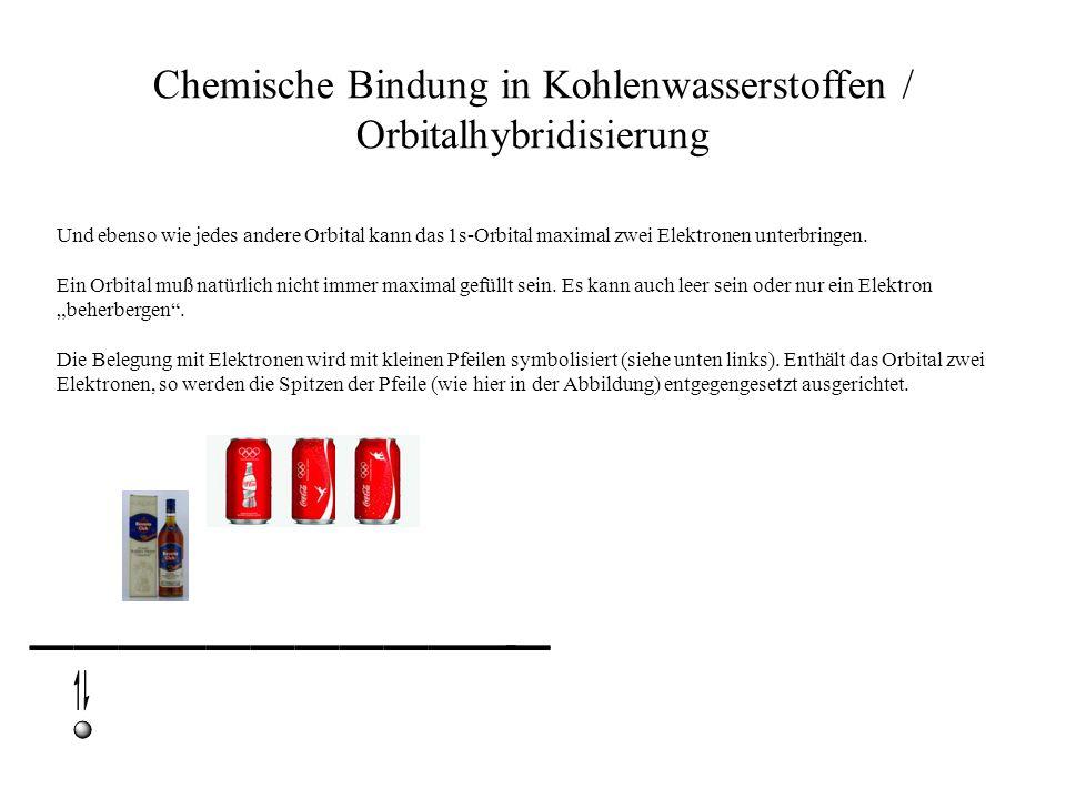 Chemische Bindung in Kohlenwasserstoffen / Orbitalhybridisierung Und ebenso wie jedes andere Orbital kann das 1s-Orbital maximal zwei Elektronen unter