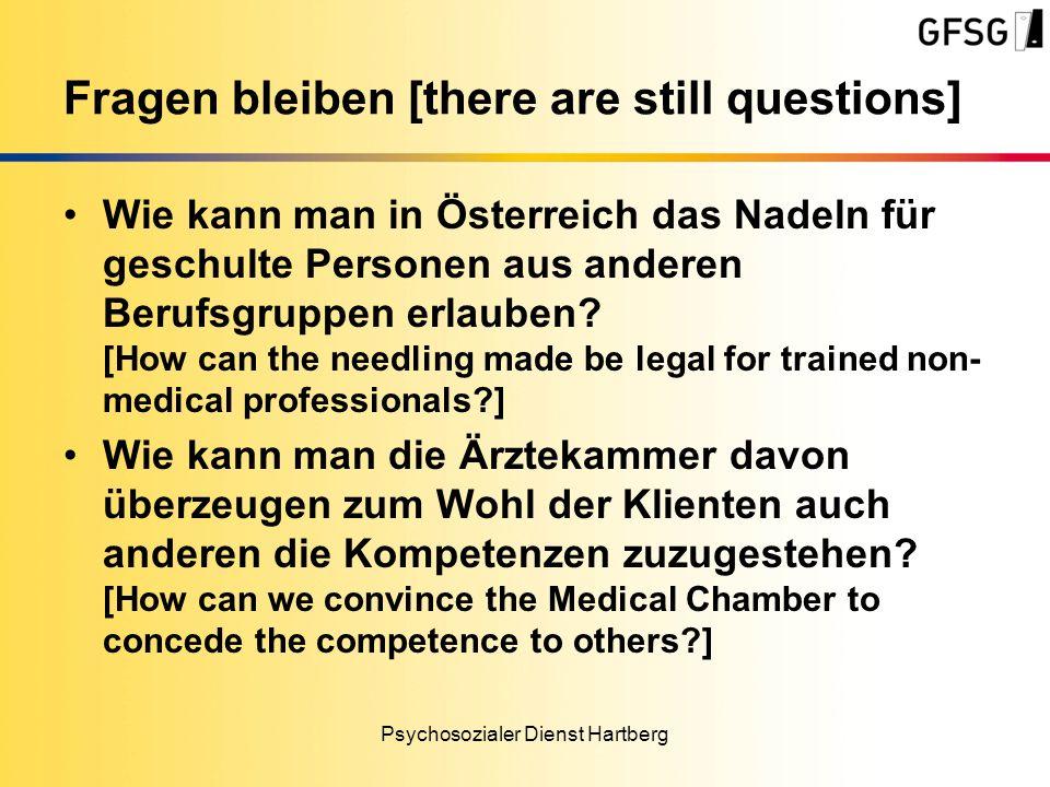 Wie kann man in Österreich das Nadeln für geschulte Personen aus anderen Berufsgruppen erlauben.