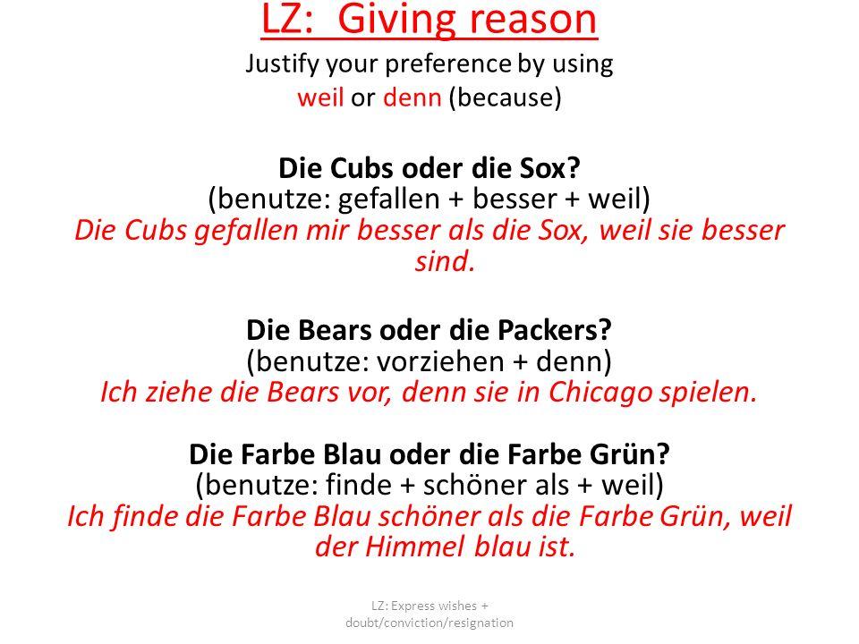 Die Cubs oder die Sox.