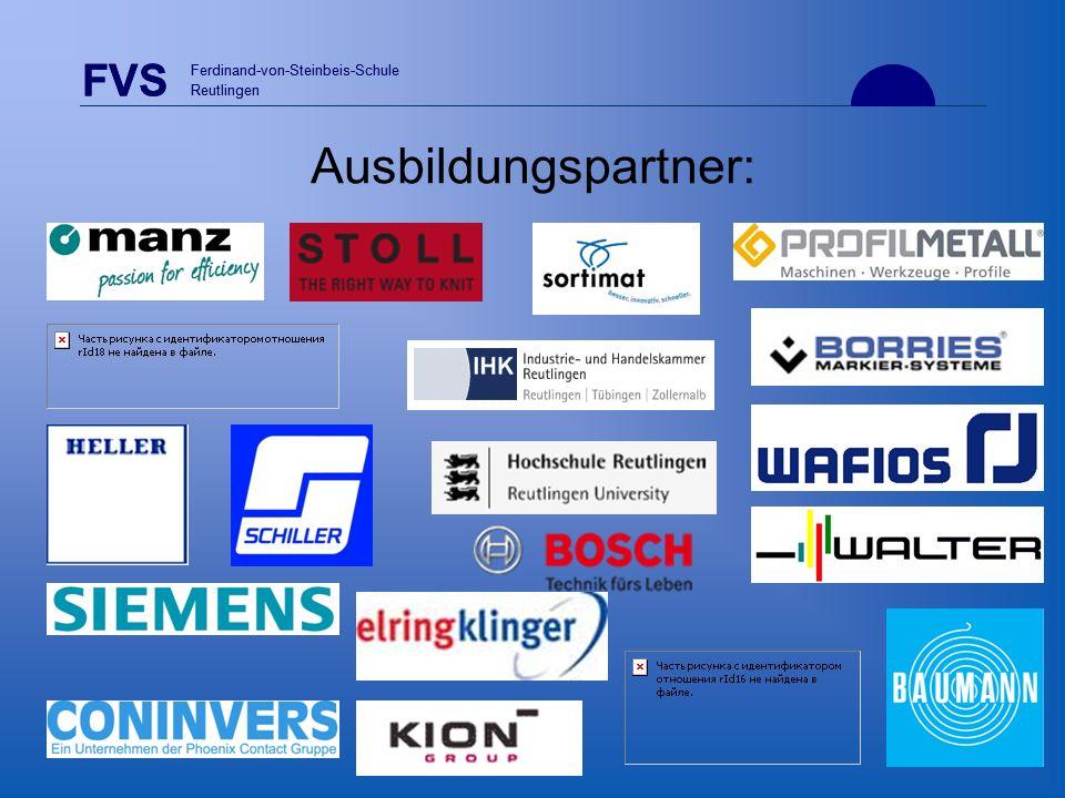 FVS Ferdinand-von-Steinbeis-Schule Reutlingen FVS Ferdinand-von-Steinbeis-Schule Reutlingen Ausbildungspartner: