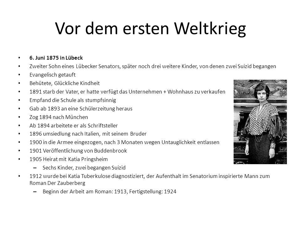 Vor dem ersten Weltkrieg 6.