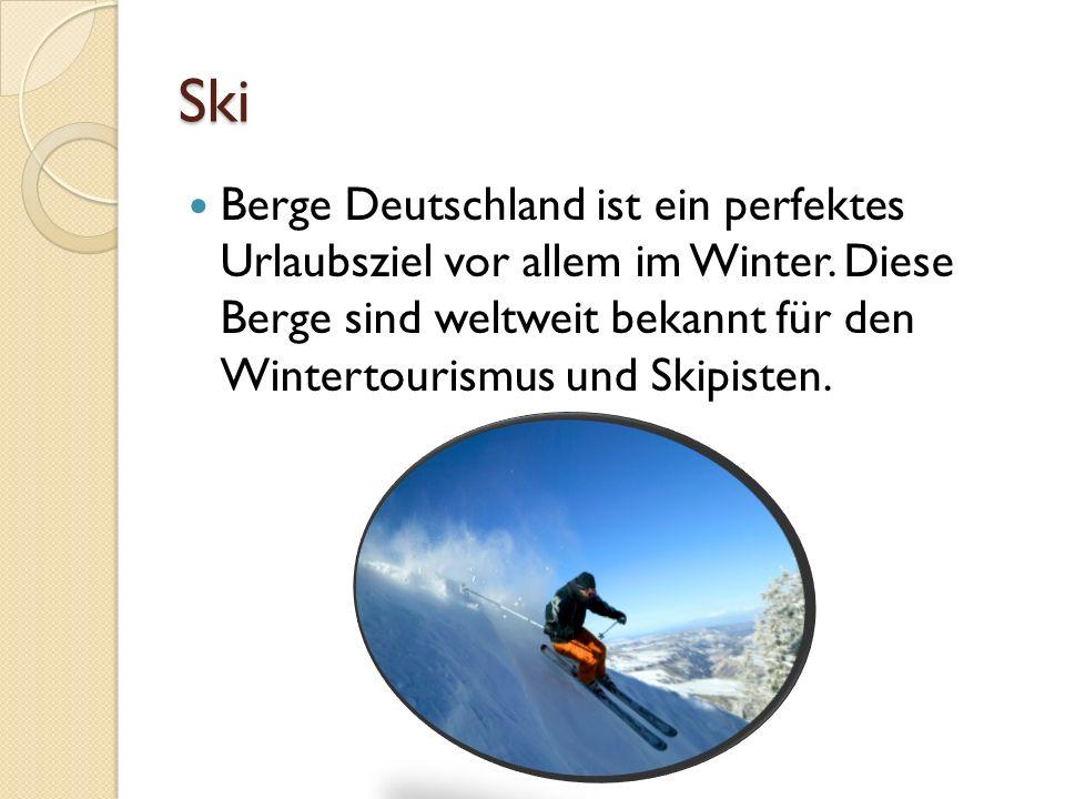Ski Berge Deutschland ist ein perfektes Urlaubsziel vor allem im Winter. Diese Berge sind weltweit bekannt für den Wintertourismus und Skipisten.