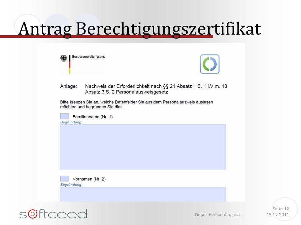 Antrag Berechtigungszertifikat Neuer Personalausweis Seite 12 15.12.2011