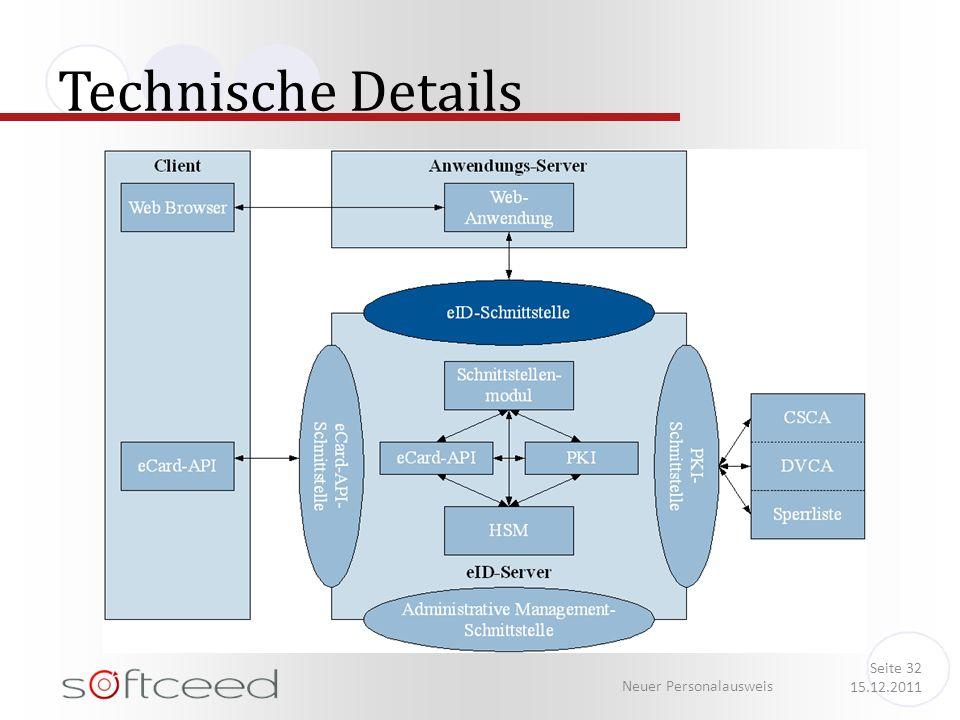 Technische Details Neuer Personalausweis Seite 32 15.12.2011