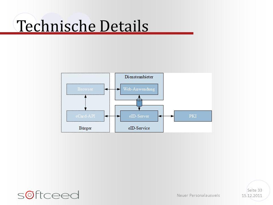 Technische Details Neuer Personalausweis Seite 33 15.12.2011