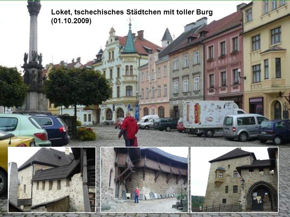 Loket, tschechisches Städtchen mit toller Burg (01.10.2009)