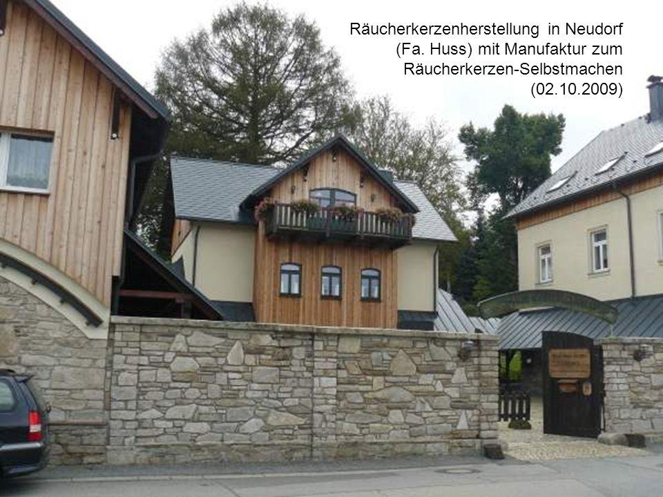 Räucherkerzenherstellung in Neudorf (Fa. Huss) mit Manufaktur zum Räucherkerzen-Selbstmachen (02.10.2009)