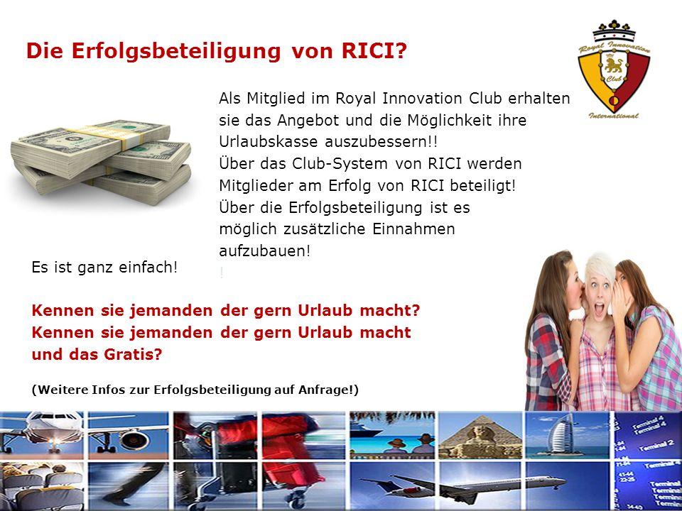 Die Erfolgsbeteiligung von RICI. Es ist ganz einfach.