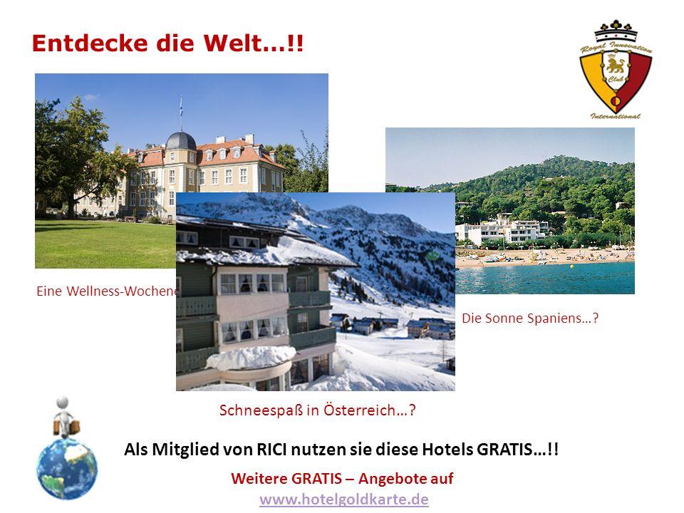 Entdecke die Welt…!. Eine Wellness-Wochenende in Deutschland….
