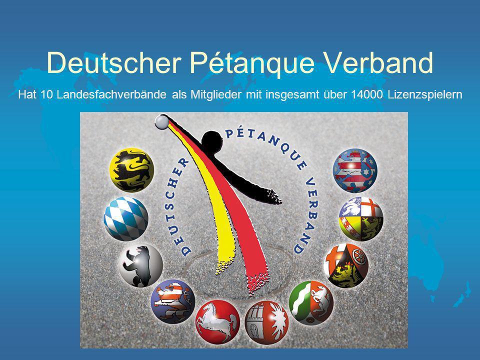 Der Beginn in Deutschland Die Spieler schlossen sich zusammen, bildeten Spielgemeinschaften und Vereine Dort wurden 1977 auch die erste Deutsche Meisterschaft Triplette ausgetragen.