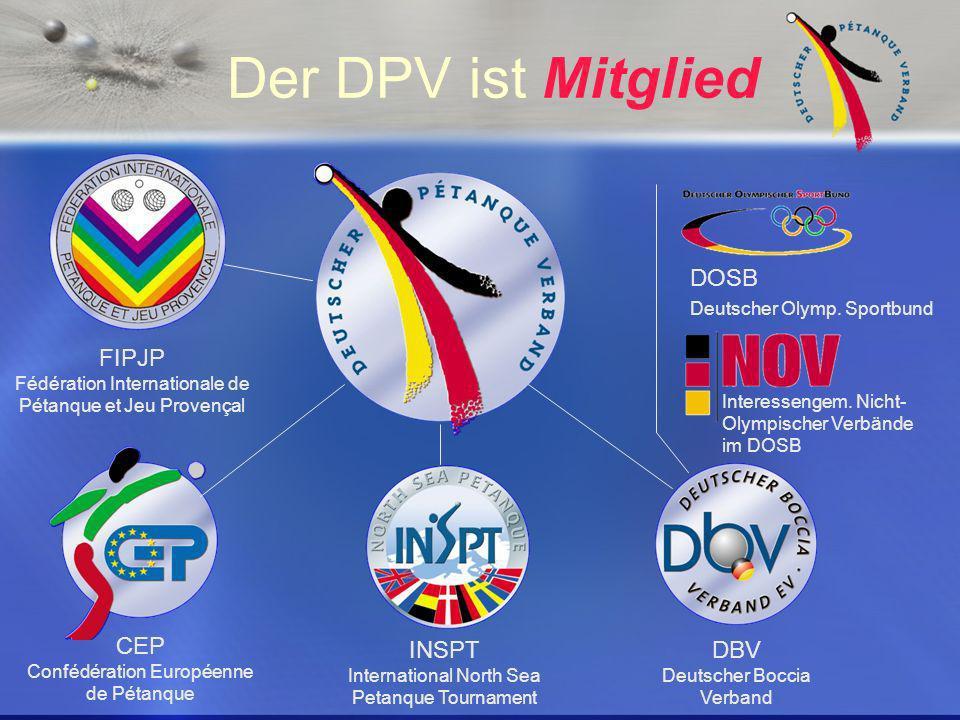 Deutscher Pétanque Verband Hat 10 Landesfachverbände als Mitglieder mit insgesamt über 14000 Lizenzspielern