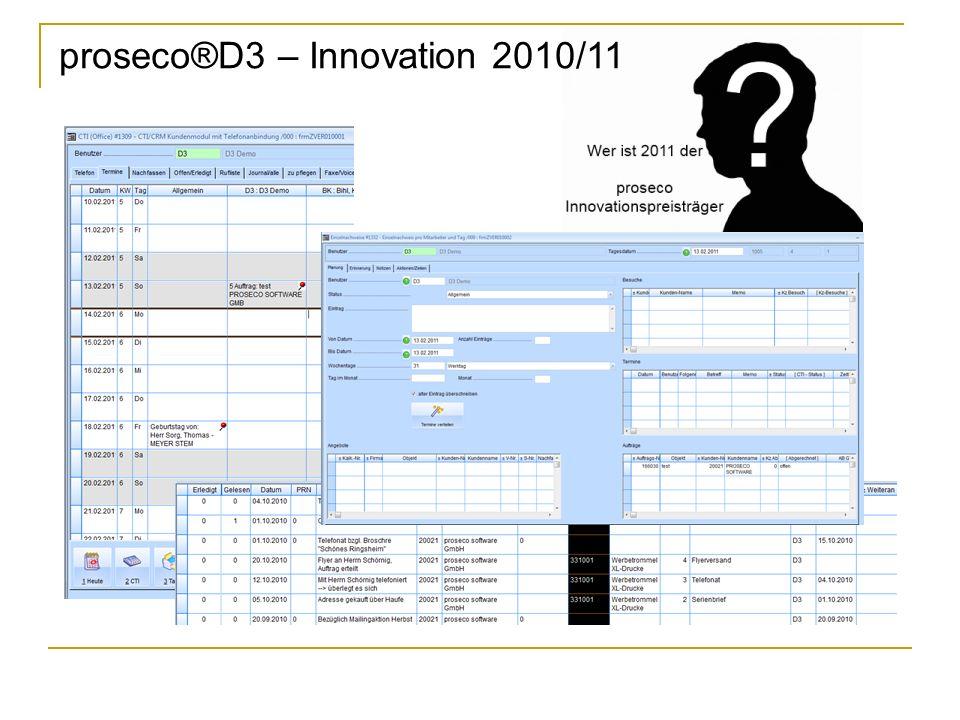 proseco®D3 – Innovation 2010/11