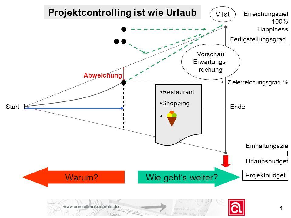 Der offene Projekt-Controlling-Regelkreis Das Zusammenwirken der Projekt-Controllingelemente im Unternehmensquerschnitt: Unternehmensleitung FachbereicheProjekt-Management Unternehmensstrategie: Welche Ziele.