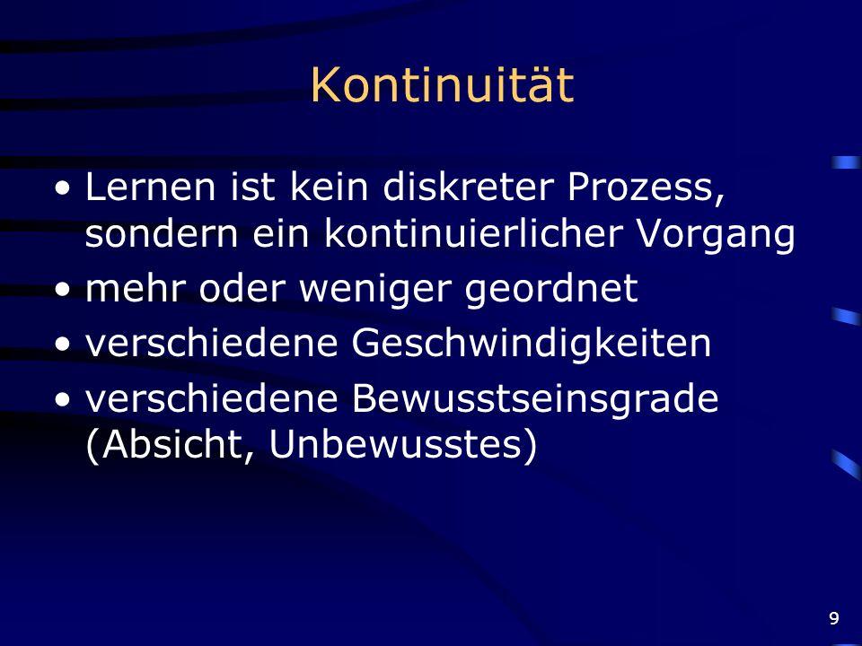 20 http://www.uni-bielefeld.de/Universitaet/Einrichtungen/Zentrale%20Institute/IWT/FWG/Gedaechtnis/Gedaechtnisstruktur_Zeit.html Zeitliche Strukturierung
