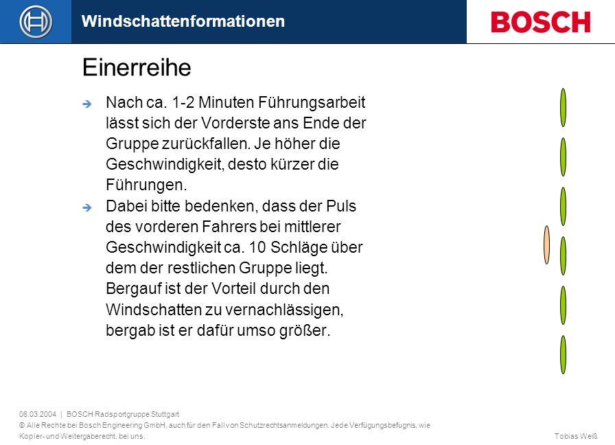 06.03.2004 | BOSCH Radsportgruppe Stuttgart © Alle Rechte bei Bosch Engineering GmbH, auch für den Fall von Schutzrechtsanmeldungen.