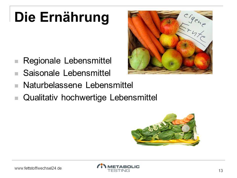 www.fettstoffwechsel24.de Die Ernährung Regionale Lebensmittel Saisonale Lebensmittel Naturbelassene Lebensmittel Qualitativ hochwertige Lebensmittel