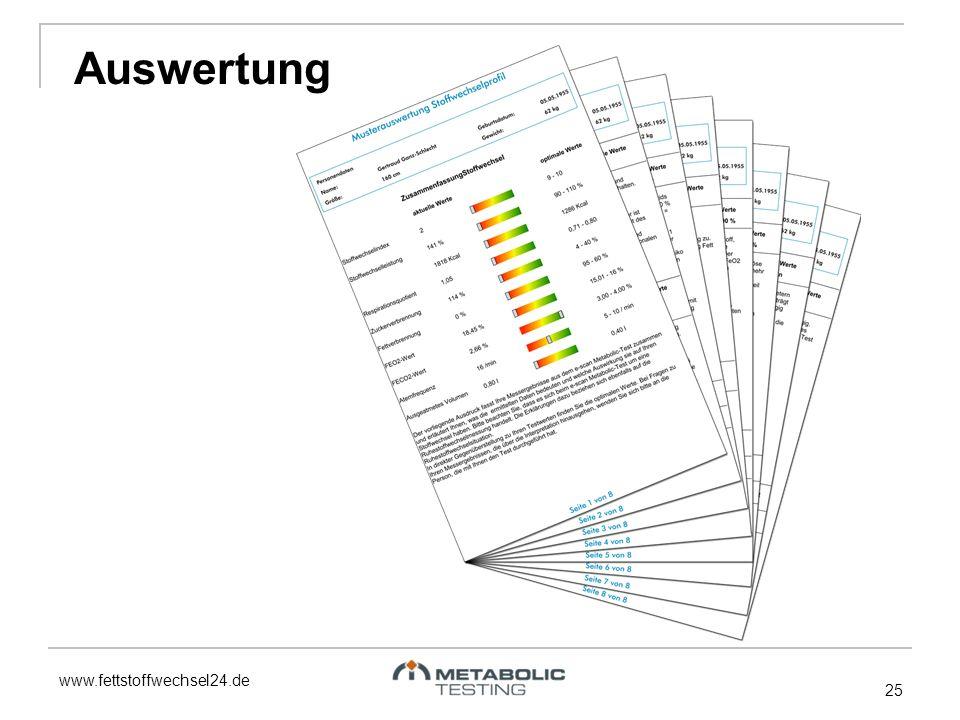 www.fettstoffwechsel24.de 25 Auswertung
