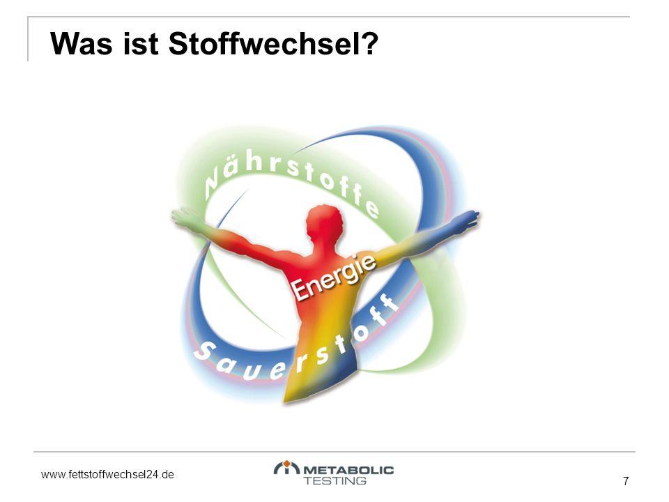 www.fettstoffwechsel24.de 7 Was ist Stoffwechsel?