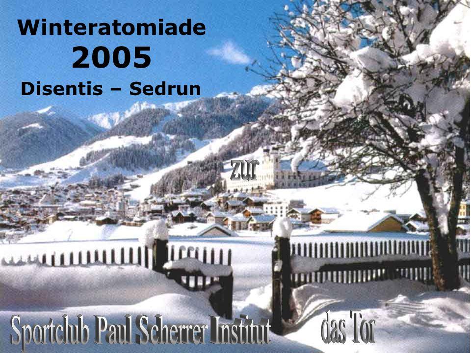 Schlussbild Winteratomiade 2005 Disentis – Sedrun