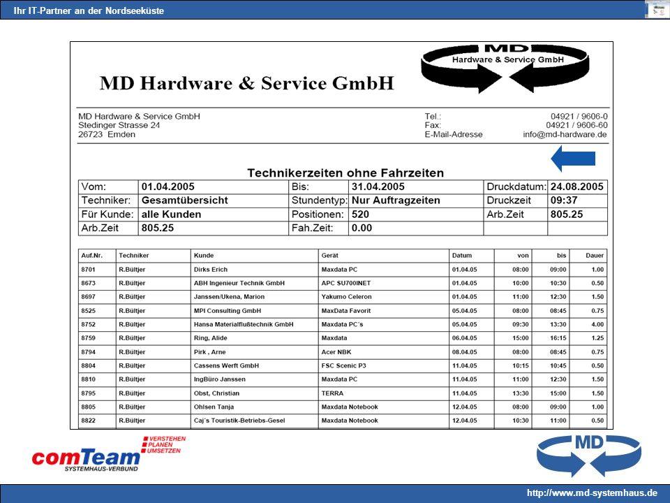Ihr IT-Partner an der Nordseeküste http://www.md-systemhaus.de
