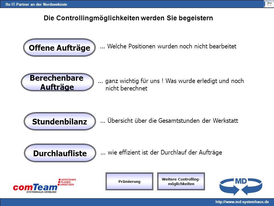 Ihr IT-Partner an der Nordseeküste http://www.md-systemhaus.de Die Controllingmöglichkeiten werden Sie begeistern...