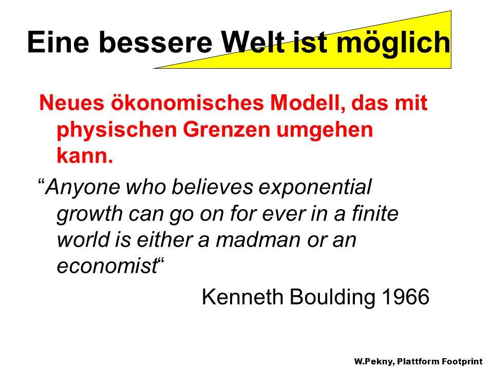 Neues ökonomisches Modell, das mit physischen Grenzen umgehen kann. Anyone who believes exponential growth can go on for ever in a finite world is eit