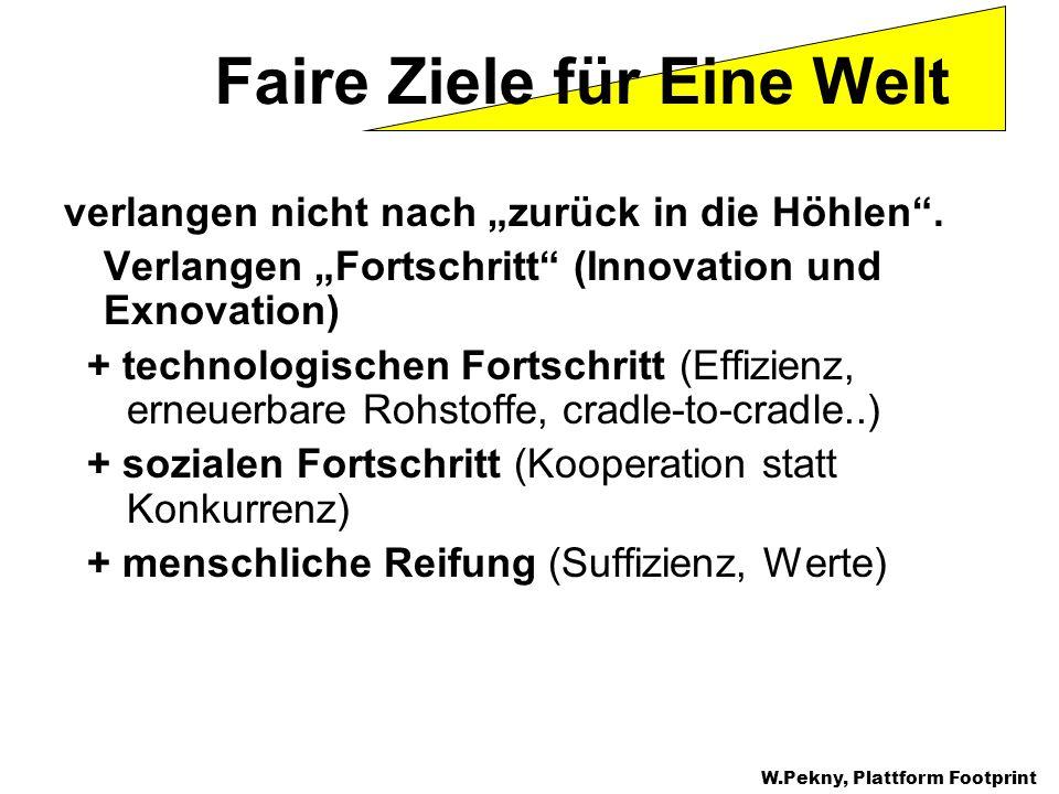 verlangen nicht nach zurück in die Höhlen. Verlangen Fortschritt (Innovation und Exnovation) + technologischen Fortschritt (Effizienz, erneuerbare Roh