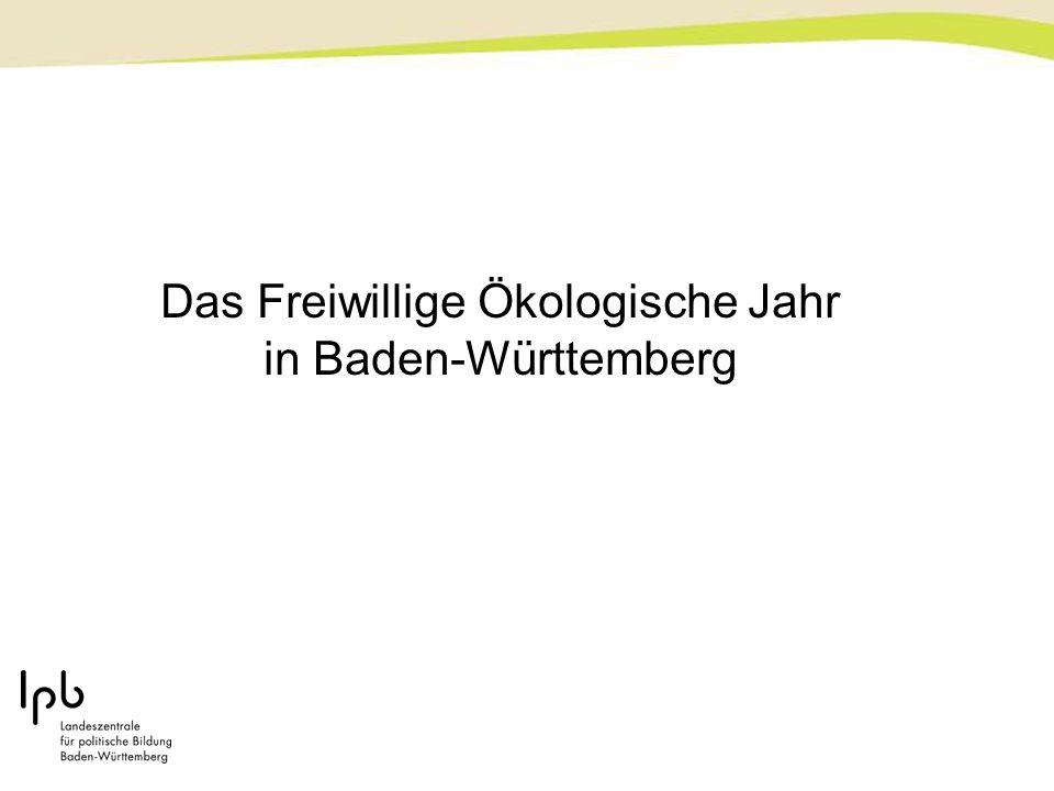 Das Freiwillige Ökologische Jahr in Baden-Württemberg