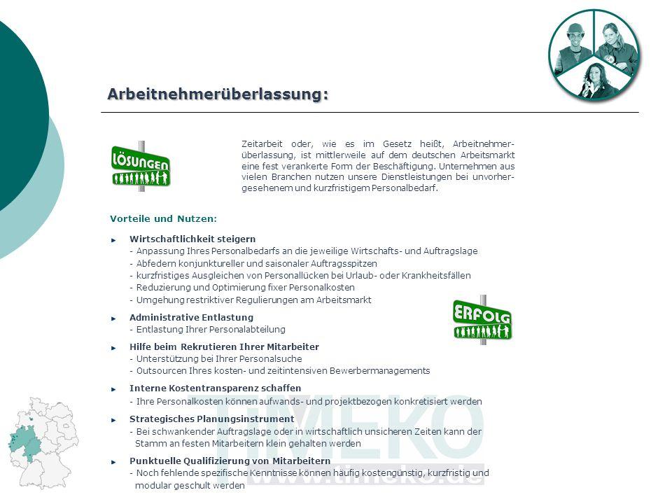 Zeitarbeit oder, wie es im Gesetz heißt, Arbeitnehmer- überlassung, ist mittlerweile auf dem deutschen Arbeitsmarkt eine fest verankerte Form der Beschäftigung.