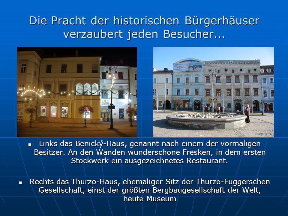 Die Pracht der historischen Bürgerhäuser verzaubert jeden Besucher...