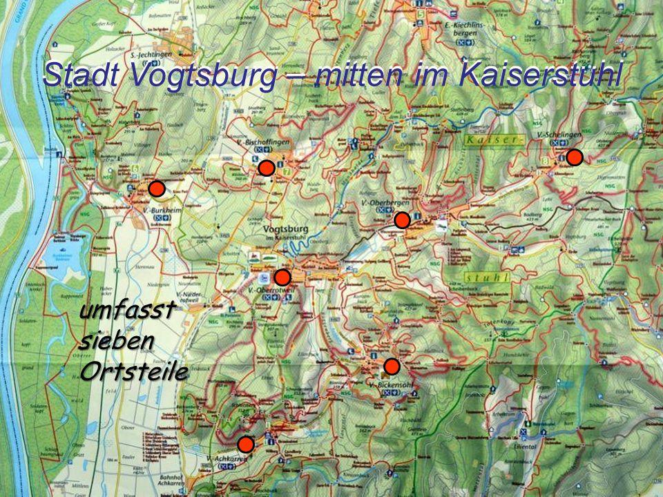 Stadt Vogtsburg – mitten im Kaiserstuhl umfasst sieben Ortsteile