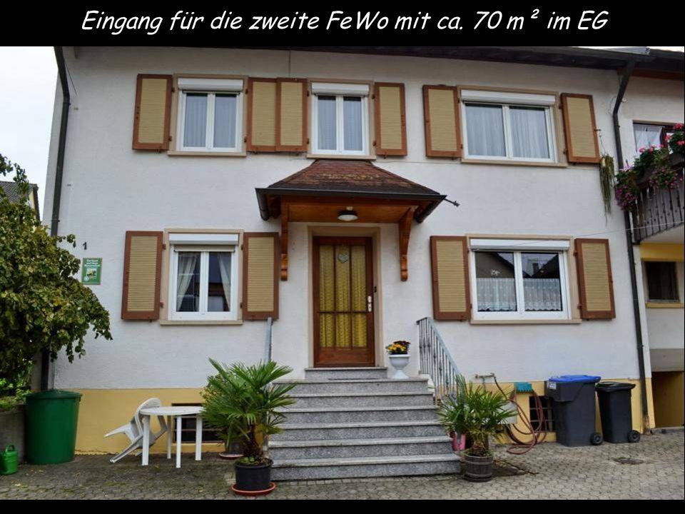 Eingang für die zweite FeWo mit ca. 70 m² im EG