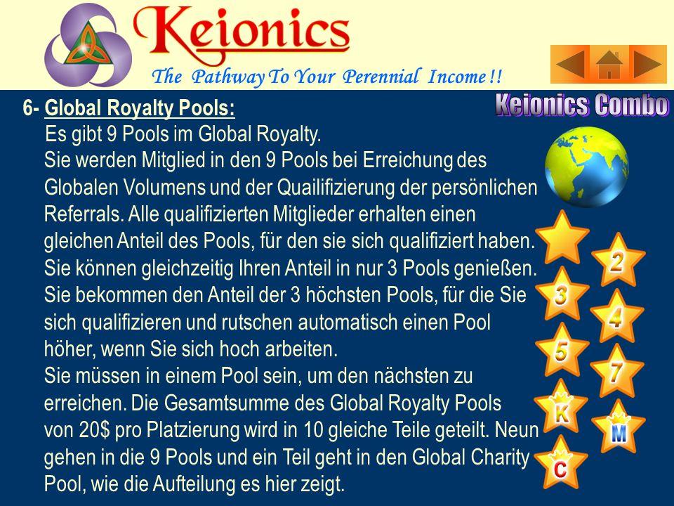 6- Global Royalty Pools: Dies ist ein globales Bein im Unternehmen.