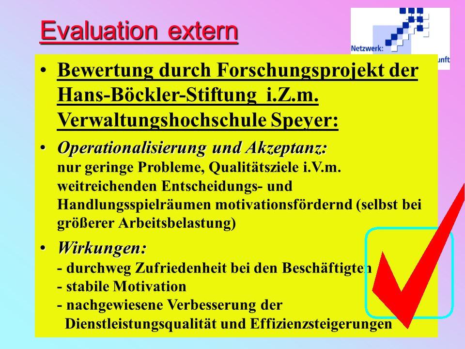 Evaluation intern Schlußbewertung beim Bad AuftragserfüllungAuftragserfüllung: Massnahmeplan fast vollständig abgearbeitet, durch a.o. Sanierungsarbei