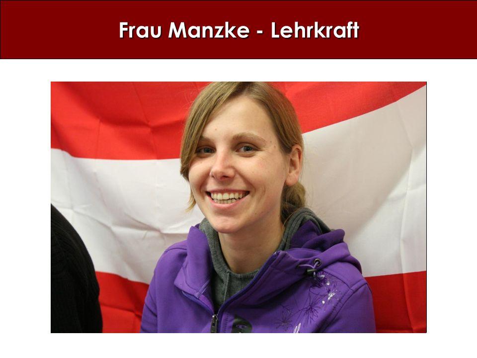 Frau Manzke - Lehrkraft