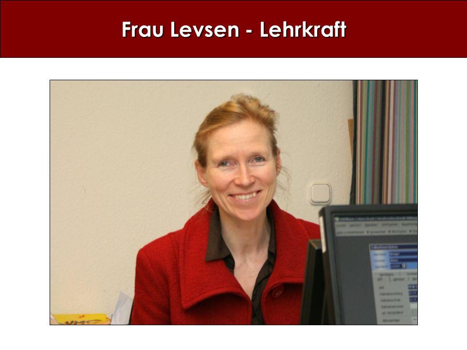 Frau Levsen - Lehrkraft