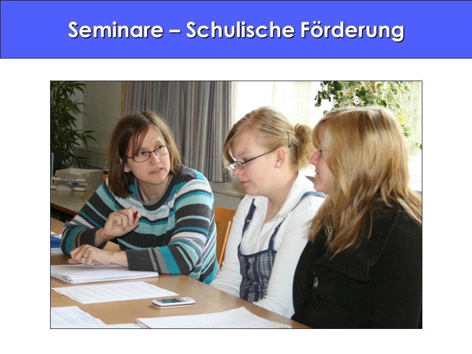 Seminare – Schulische Förderung