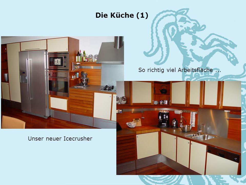 Die Küche (1) Unser neuer Icecrusher So richtig viel Arbeitsfläche...