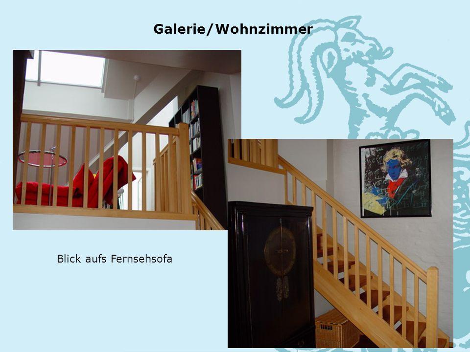 Blick aufs Fernsehsofa Galerie/Wohnzimmer