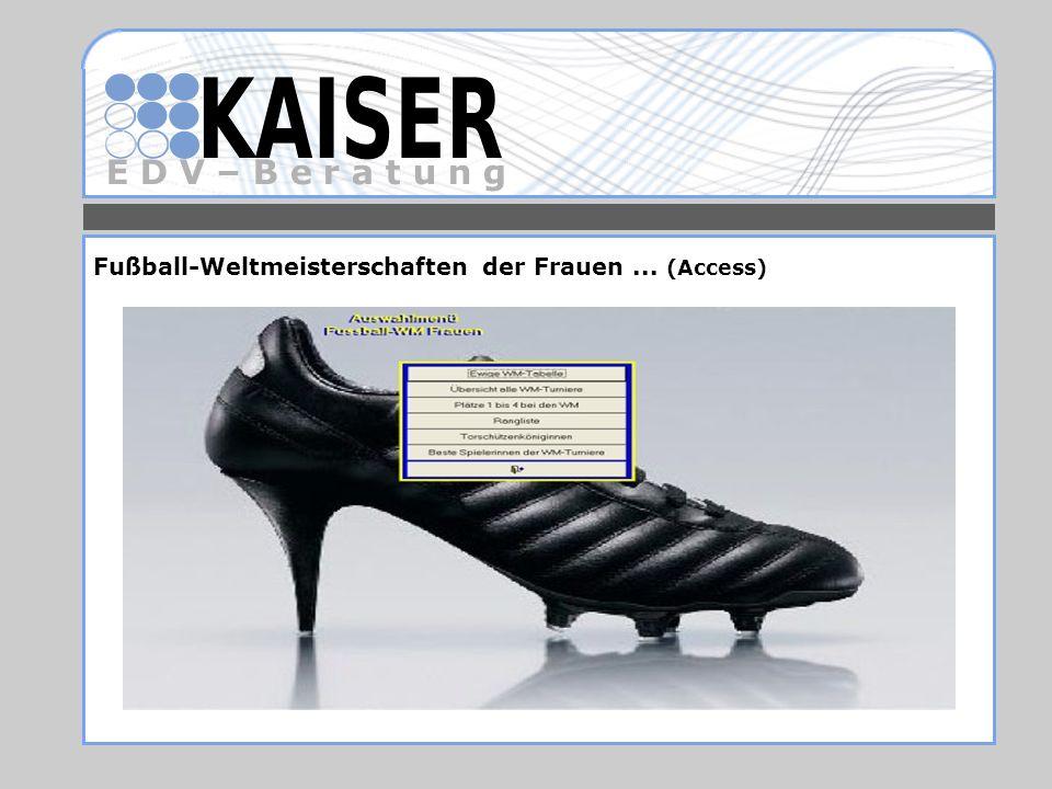 E D V – B e r a t u n g Fußball-Weltmeisterschaften der Frauen... (Access)
