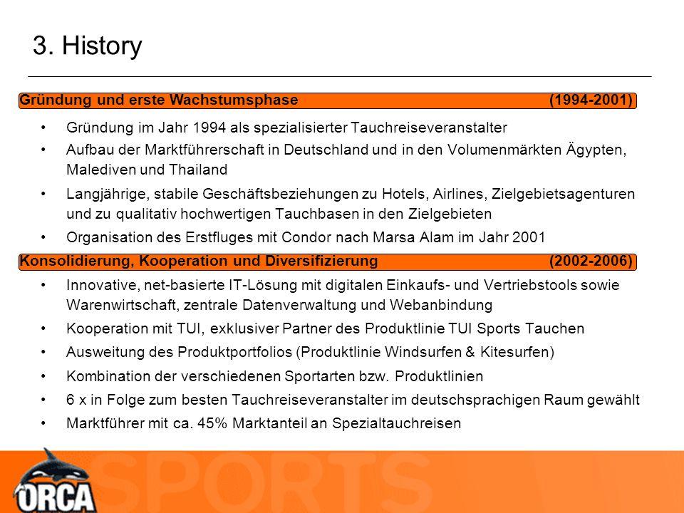 3. History Gründung und erste Wachstumsphase (1994-2001) Konsolidierung, Kooperation und Diversifizierung (2002-2006) Gründung im Jahr 1994 als spezia