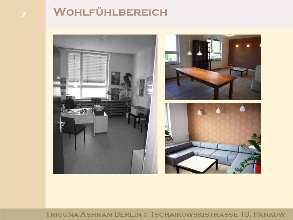Haus am Schloss Niederschönhausen Wohlfühlbereich 7 Triguna Ashram Berlin :: Tschaikowskistraße 13, Pankow