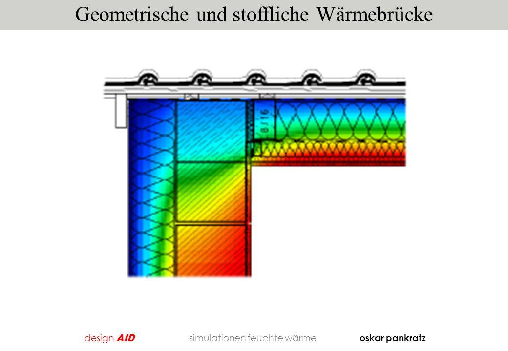 Geometrische und stoffliche Wärmebrücke design AID simulationen feuchte wärme oskar pankratz