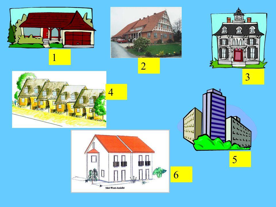Häuser Das Einfamilienhaus Der Bungalow Das Bauernhaus Die Wohnung Das Reihenhaus Das Doppelhaus Detached house Bungalow Farmhouse Apartment Terraced house Semi-detached house