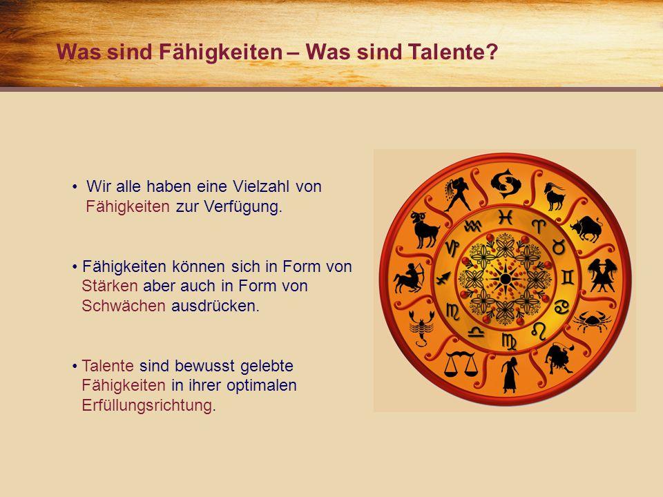 Was sind Fähigkeiten – Was sind Talente. Wir alle haben eine Vielzahl von..