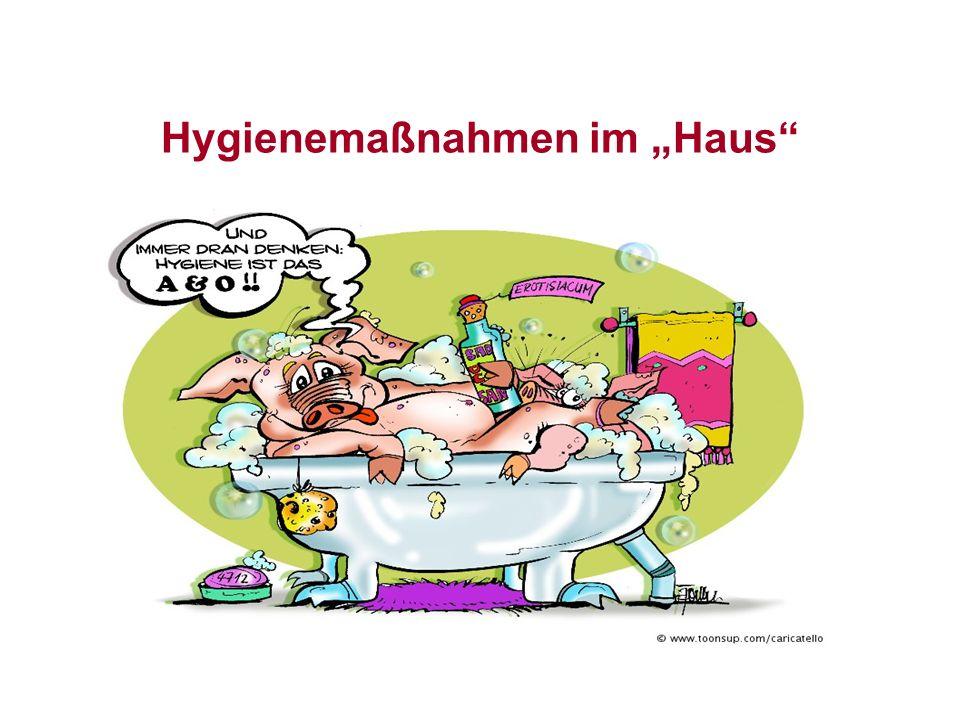 Das Ziel von Hygienemaßnahmen ist es, die Oberflächenkontamination, Hände eingeschlossen, so weit zu reduzieren, dass sie keine Gefahr für die Gesundheit darstellen!!!!!!!