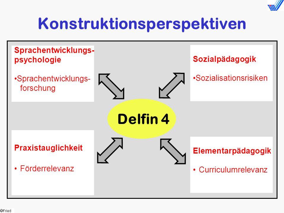 Fried Delfin 4 Konstruktionsperspektiven Sprachentwicklungs- psychologie Sprachentwicklungs- forschung Praxistauglichkeit Förderrelevanz Sozialpädagog