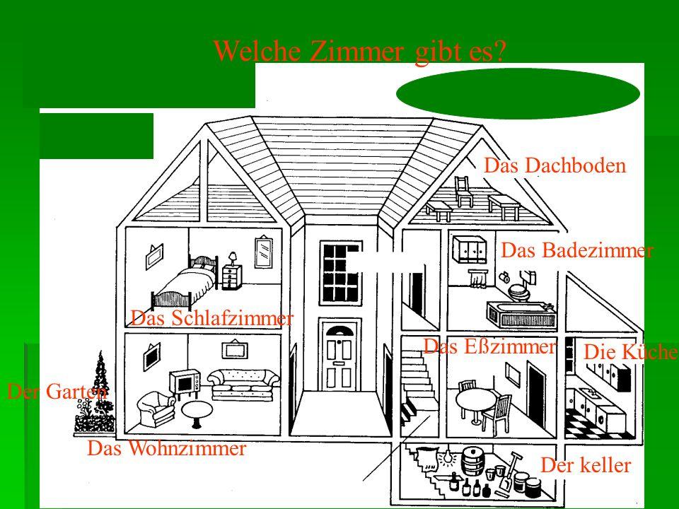 2.Aufgabe Pomenuj izby v dome a to, čo je okolo domu! Pomenuj izby v dome a to, čo je okolo domu! Vety sformuluj tak, aby si používal predložky neben,