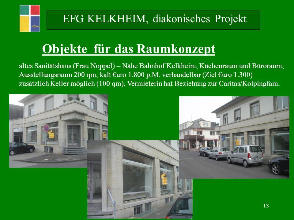 13 EFG KELKHEIM, diakonisches Projekt Objekte für das Raumkonzept altes Sanitätshaus (Frau Noppel) – Nähe Bahnhof Kelkheim, Küchenraum und Büroraum, Ausstellungsraum 200 qm, kalt uro 1.800 p.M.